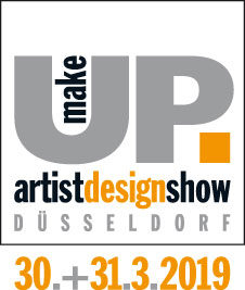 make-up artist design show logo mit datum