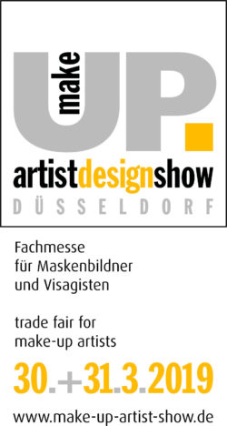 make-up artist design show Logo with claim